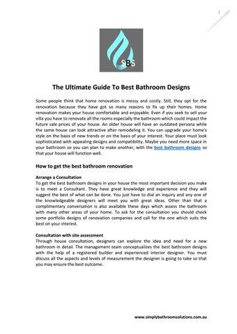 Ultimate Guide To Best Bathroom Designs