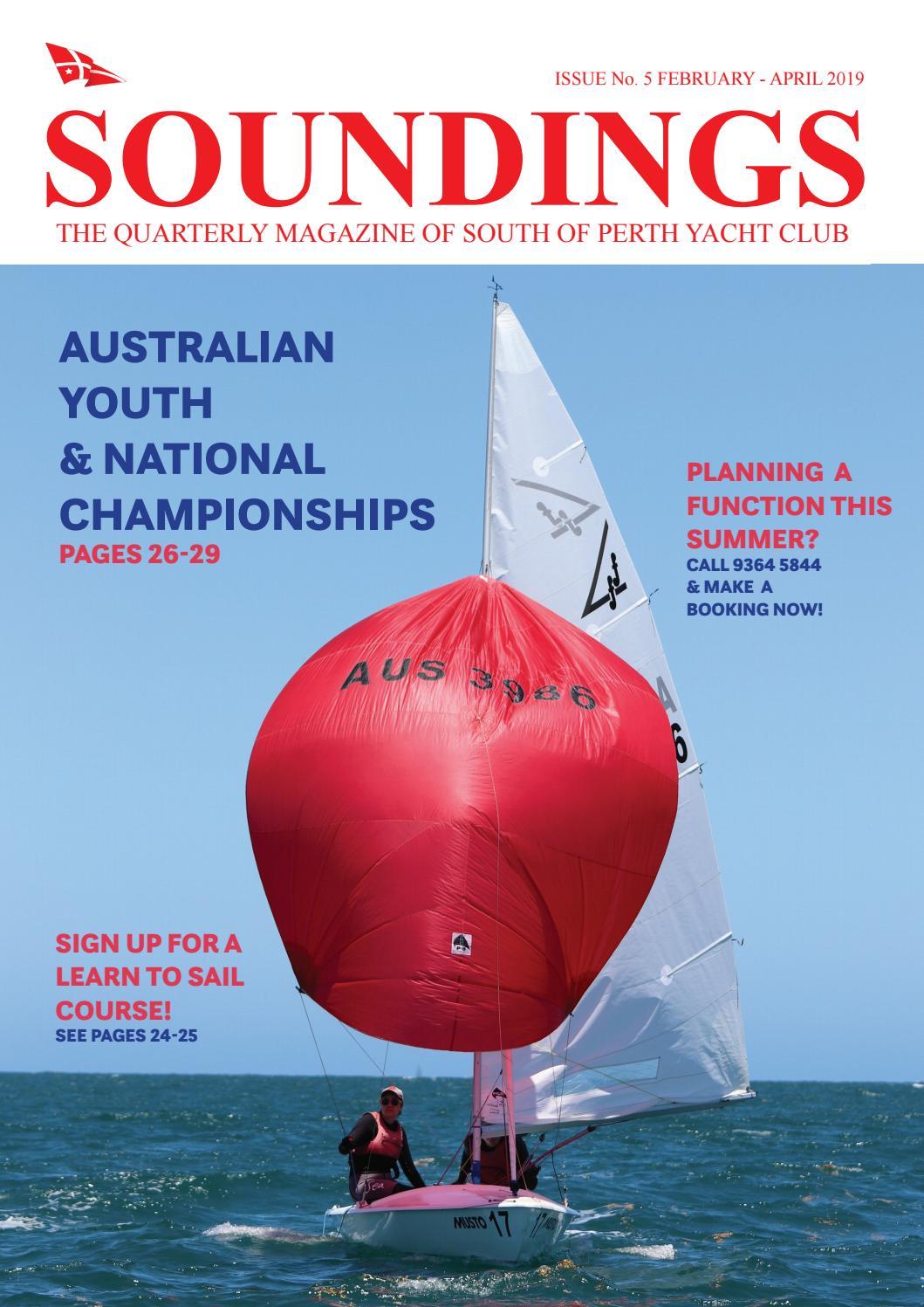 South of Perth Yacht Club Soundings Magazine February 2019