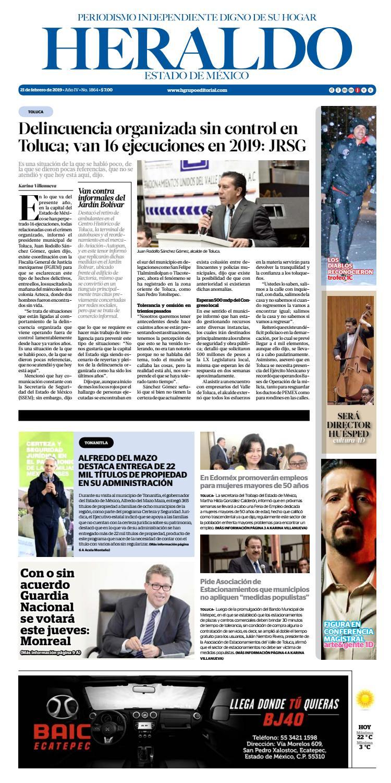 Jueves 21 de Febrero 2019 by Heraldo Estado de México - issuu