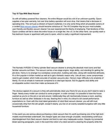 Best vacuum cleaner by eloraanakin1843 - issuu