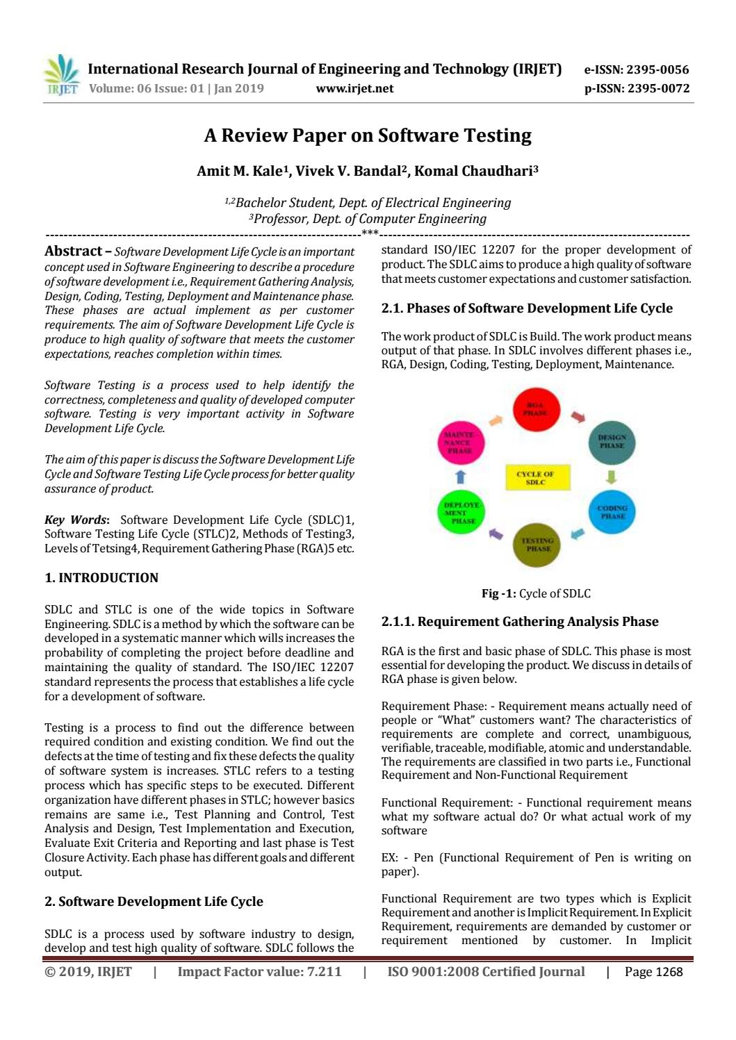 Irjet A Review Paper On Software Testing By Irjet Journal Issuu