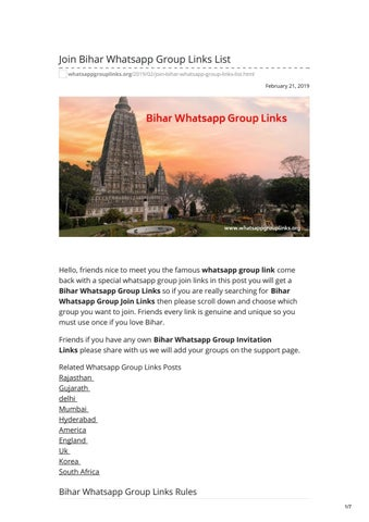 Join Bihar Whatsapp Group Links List by whatsapp group links - issuu