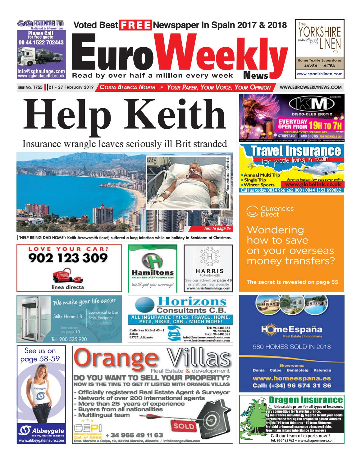 Euro Weekly News - Costa Blanca North 21 - 27 Feb 2019 Issue 1755 by Euro  Weekly News Media S.A. - issuu 220c6cc07