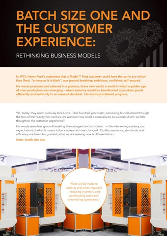 Page 14 of Batch Size One and the Customer Experience: Rethinking Business Models