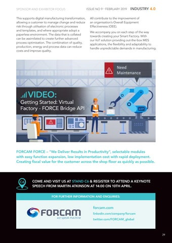 Page 29 of Company Focus: Forcam