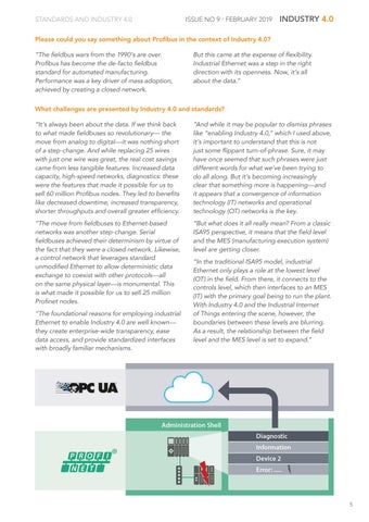 Page 5 of Standards and Industry 4.0: PROFIBUS and PROFINET