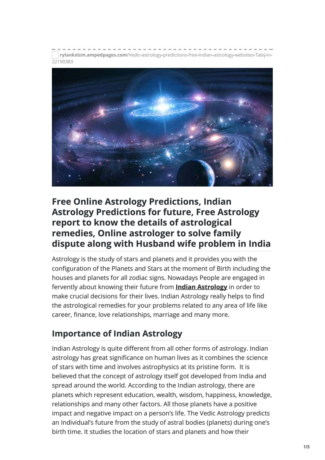 Know how Indian Astrology Websites work- Tabij in by Lipsa