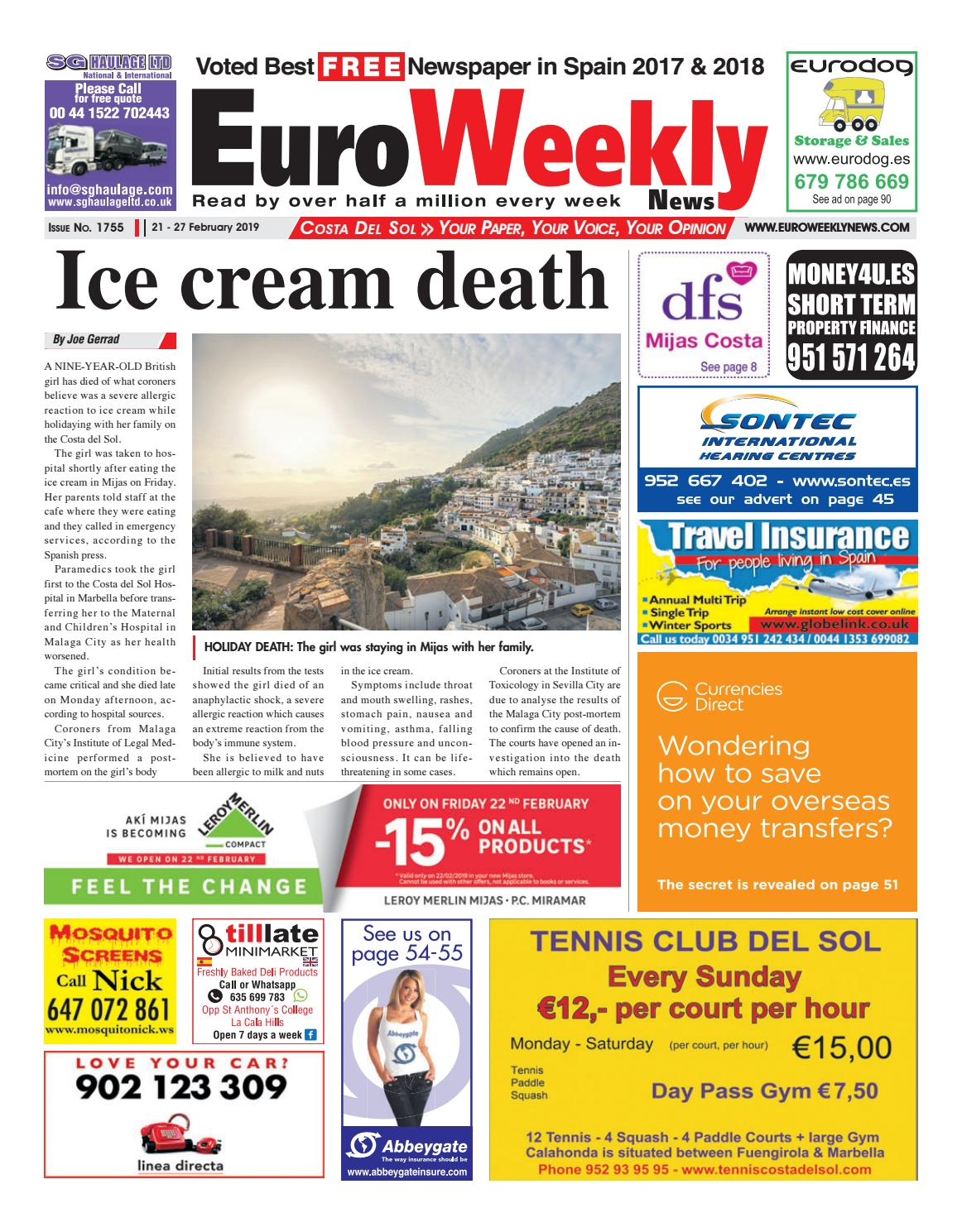 890e5e732 Euro Weekly News - Costa del Sol 21 - 27 Feb 2019 Issue 1755 by Euro Weekly  News Media S.A. - issuu