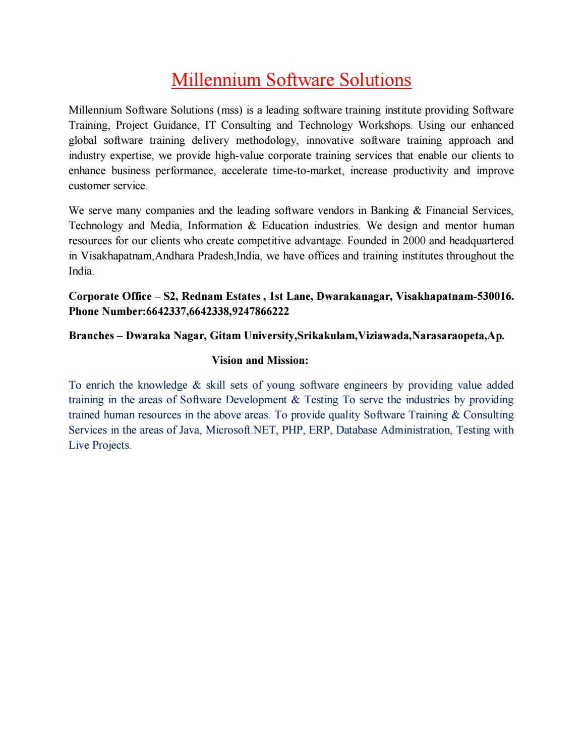 Best IT Software Training Institute in Dwarakanagar & Vizag