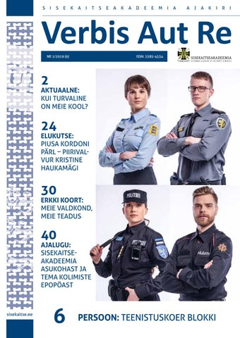 024948f27da Verbis Aut Re nr 1/2019 (6) by Sisekaitseakadeemia - issuu