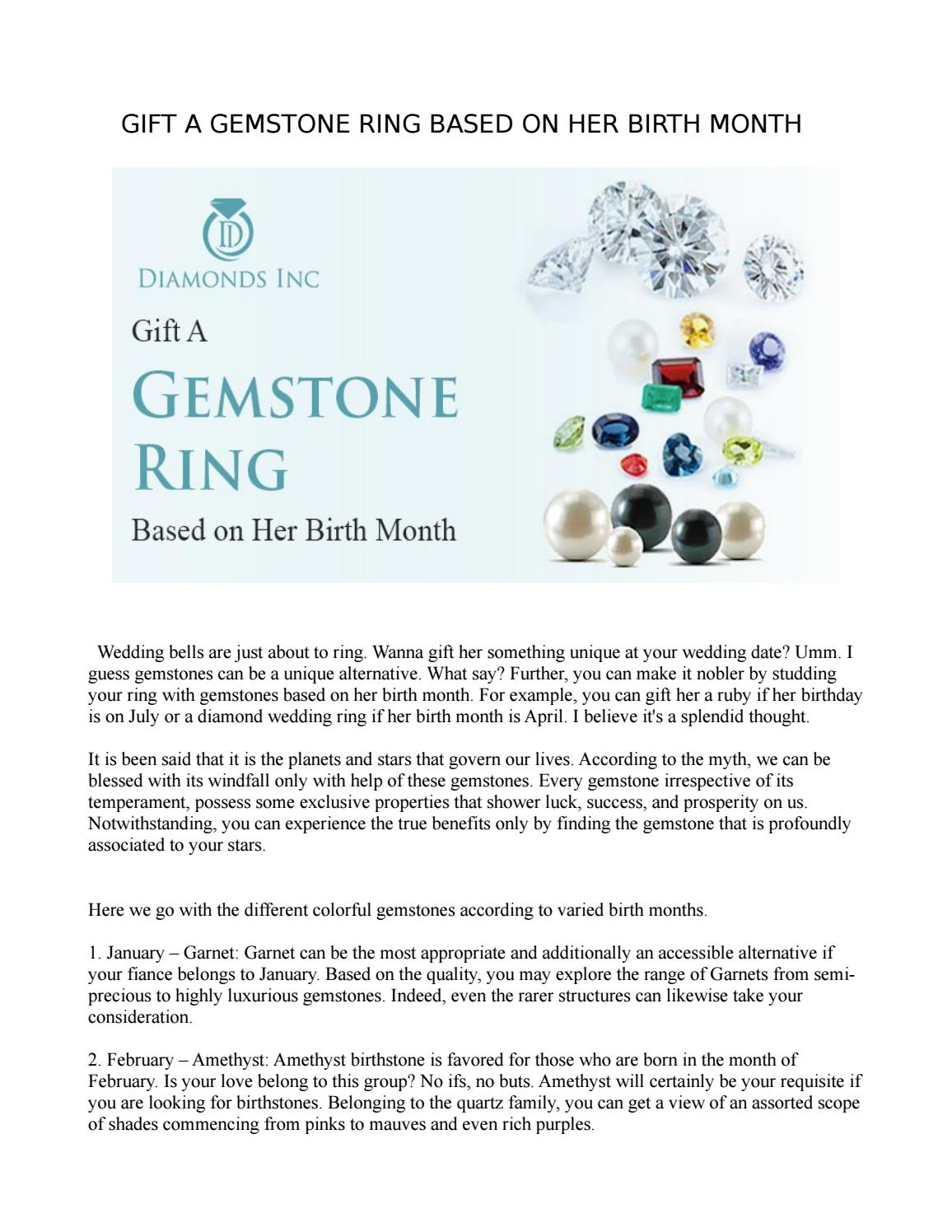 7f56609f925 GIFT A GEMSTONE RING BASED ON HER BIRTH MONTH by Diamonds Inc - issuu