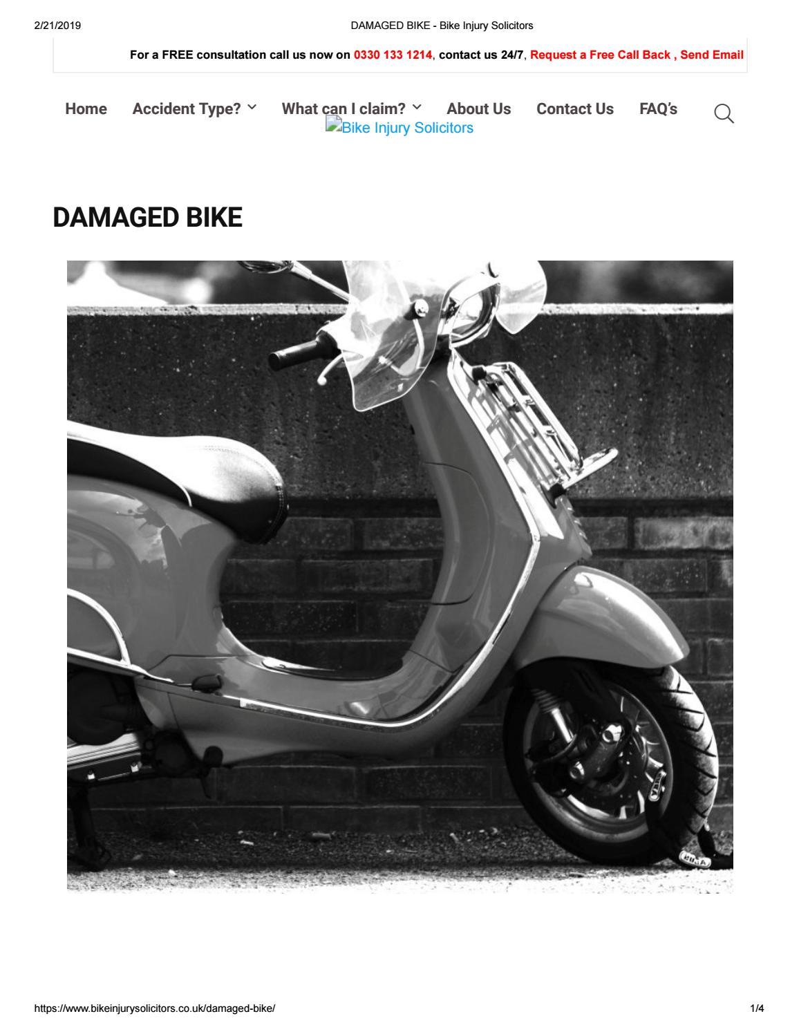 Bike/Motorcycle Injury Claim Manchester, Motorbike Accident