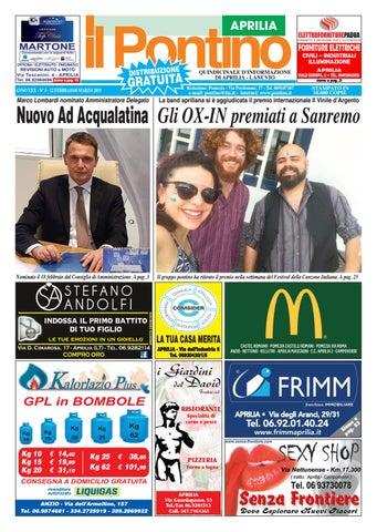 IL PONTINO APRILIA - ANNO XXX - N. 4 - 22 Febbraio 8 Marzo 2019 by ... d9e2721a2359