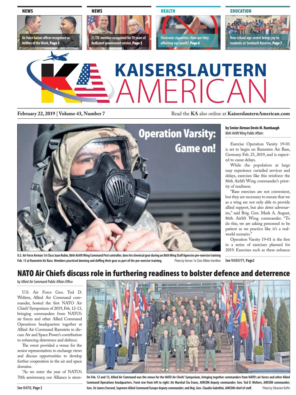 Kaiserslautern American, February 22, 2019 by AdvantiPro