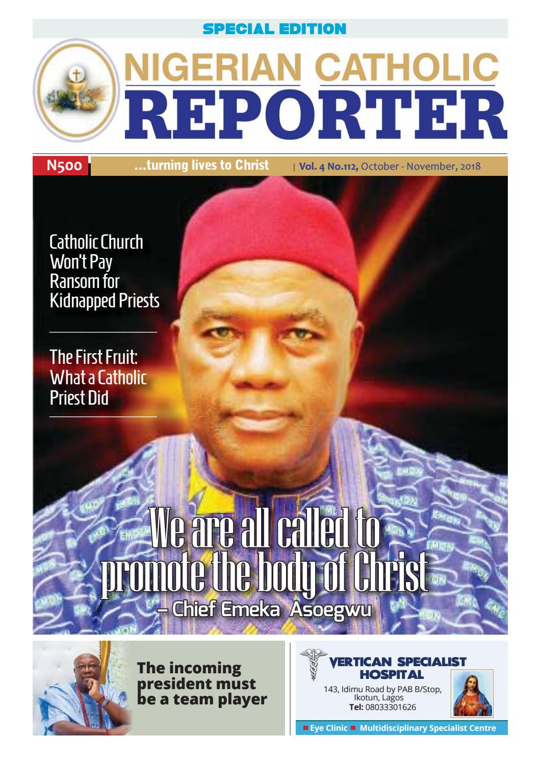 Nigerian Catholic Reporter Magazine Vol  12 by Francis Toke - issuu