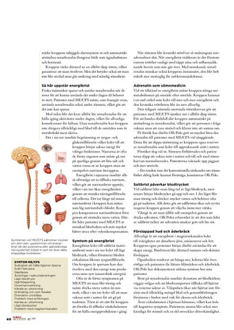 noradrenalin brist symtom