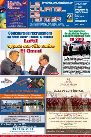 8fd092ced Le journal de Tanger 05 Janvier 2019 by Le Journal de Tanger - issuu