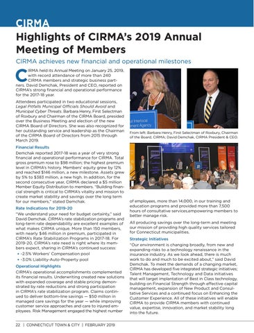 Page 22 of Highlights of CIRMA's 2019 Annual Meeting of Members