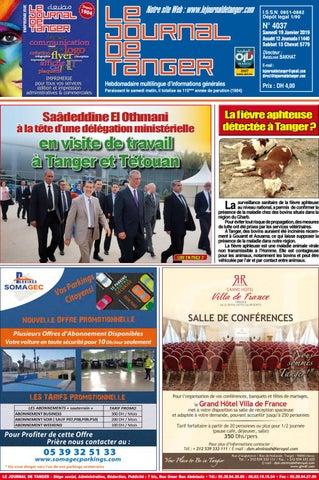 ebb3b6f8f Le journal de Tanger 19 Janvier 2019 by Le Journal de Tanger - issuu