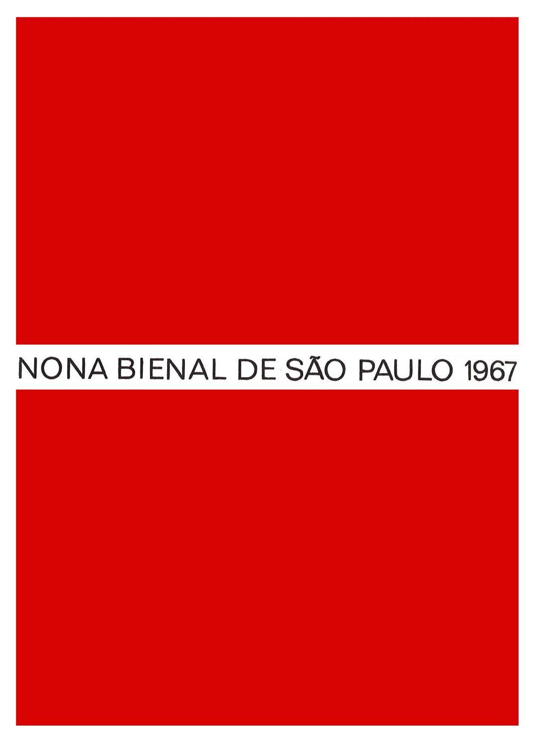 da2eac05ce8ab 9ª Bienal de São Paulo (1967) - Catálogo by Bienal São Paulo - issuu