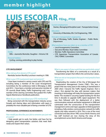 Page 28 of Member Highlight: Luis Escobar
