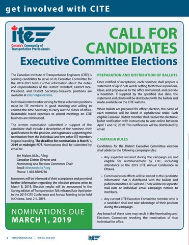 Page 8 of CITE Executive Committee Elections