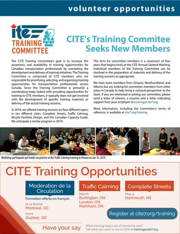 Page 9 of Training Committee Seeks Members + Training Opportunities
