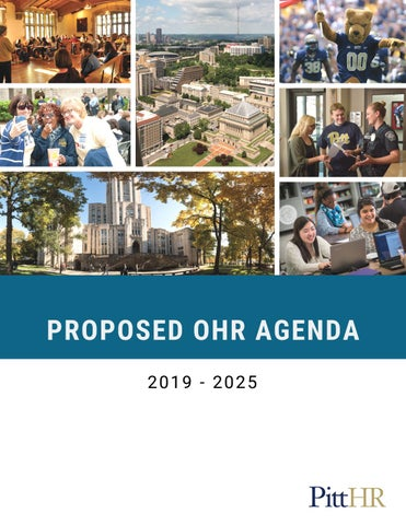 Proposed OHR Agenda by University of Pittsburgh Office of Human