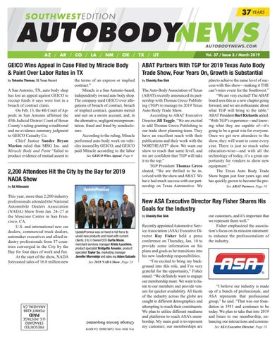 Miracle Body And Paint >> March 2019 Southwest Edition By Autobody News Issuu