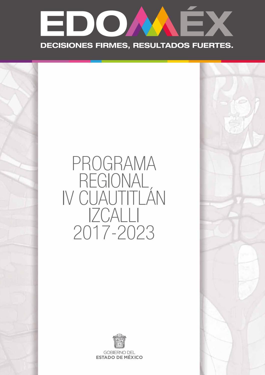 Programa Regional Iv Cuautitlán Izcalli 2017 2023 By