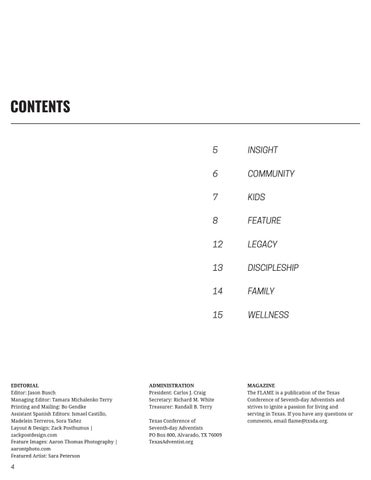 Page 4 of Contents