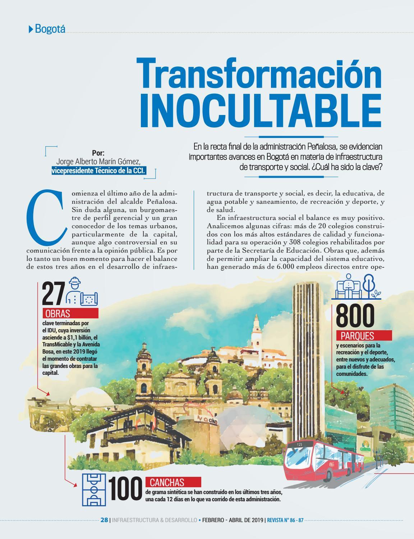 05c60520bc Revista Infraestructura   Desarrollo Ed. 86 - 87 by Cámara Colombiana de la  Infraestructura - issuu