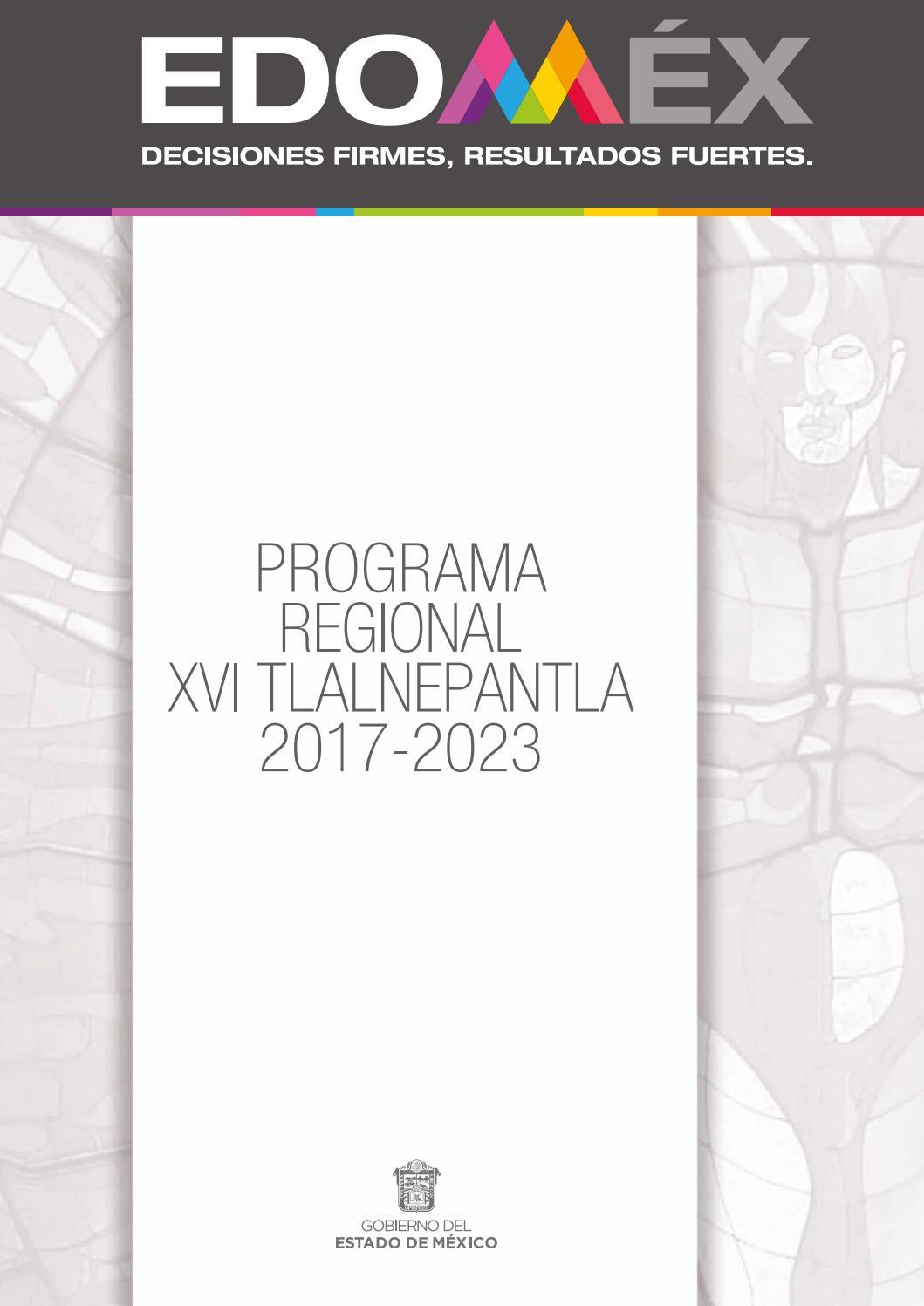 Programa Regional Xvi Tlalnepantla 2017 2023 By Copladem