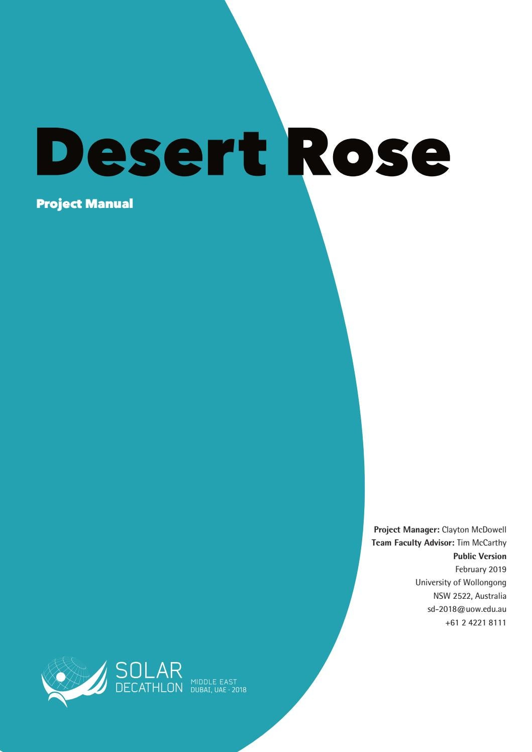 5754f9962c3a Team UOW Australia-Dubai  Desert Rose Project Manual by desertrosehouse -  issuu