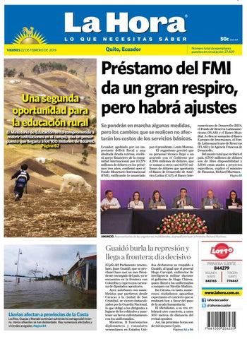 113b71ef4cce7 Quito 22 de febrero de 2019 by Diario La Hora Ecuador - issuu