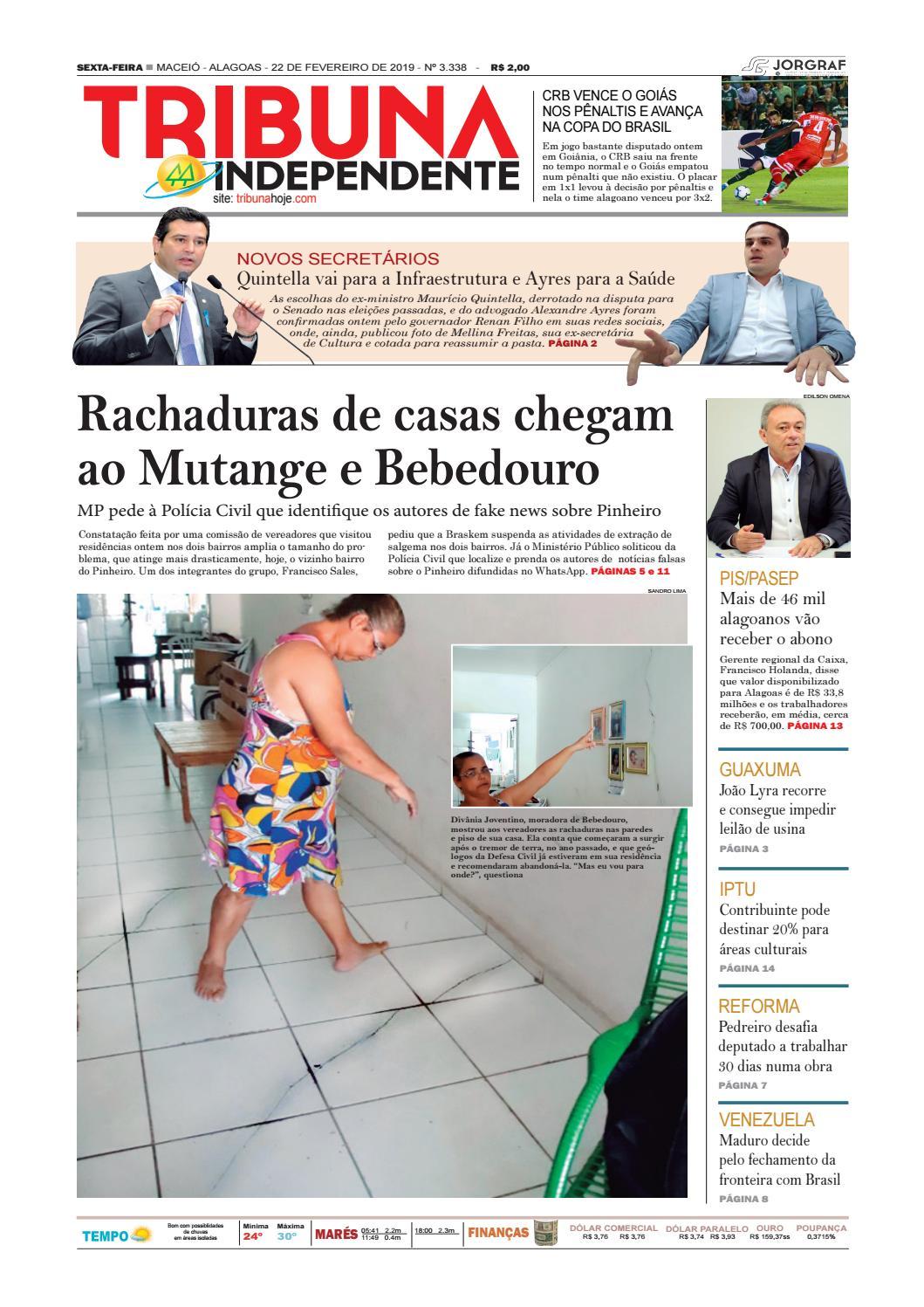 342ac1bbfc7 Edição número 3338 - 22 de fevereiro de 2019 by Tribuna Hoje - issuu