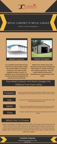 Metal Carport Vs Metal Garage What Is The Difference By Cardinalcarports Issuu