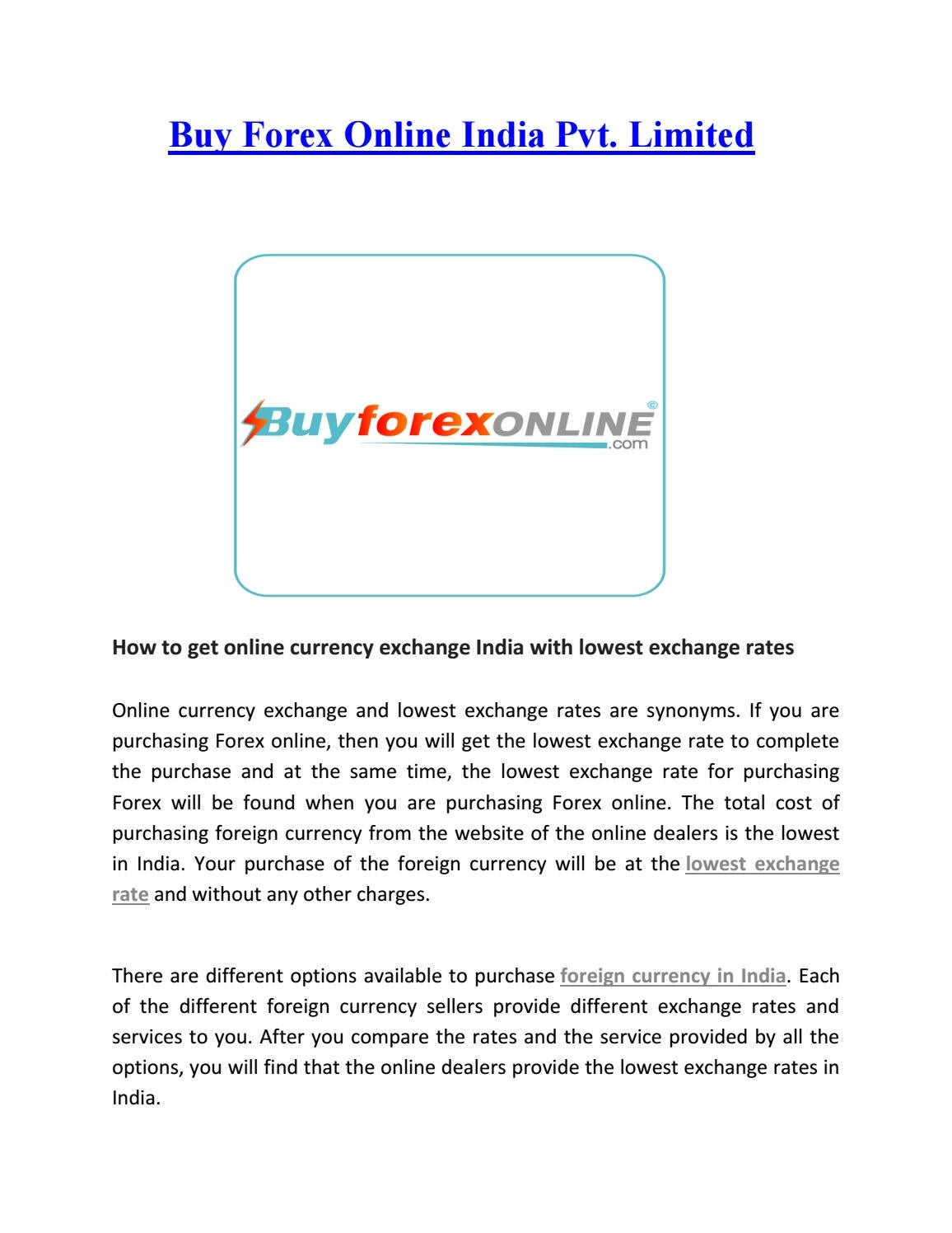 Currency Exchange India With Lowest