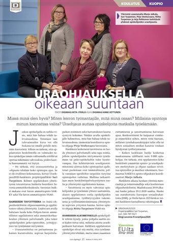 Page 21 of Uraohjauksella oikeaan suuntaan