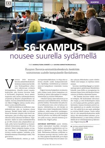 Page 25 of S6-kampus nousee suurella sydämellä