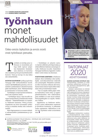 Page 37 of Työnhaun  monet mahdollisuudet