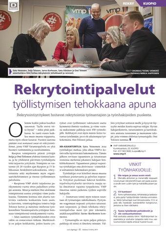 Page 41 of Rekrytointipalvelut työllistymisen tehokkaana apuna
