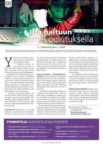 Page 48 of Ura haltuun työvoimakoulutuksella
