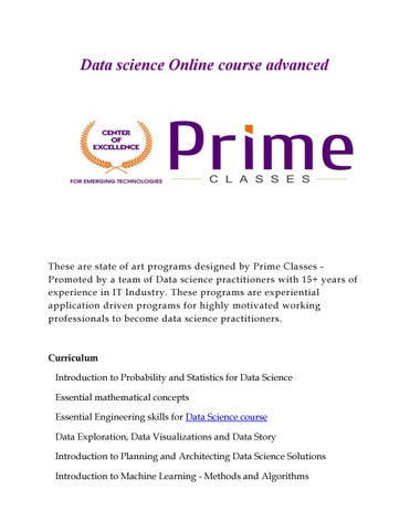 Data science Online course advanced by lisarwilliams01 - issuu