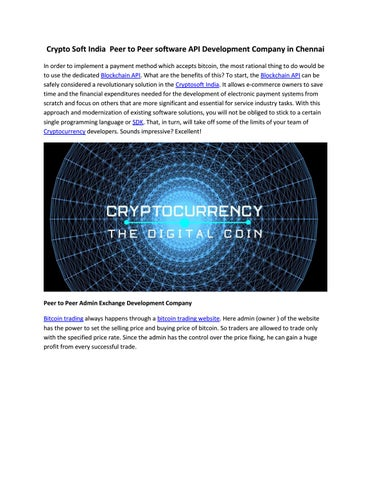 cryptocurrency trading api bitcoin payments