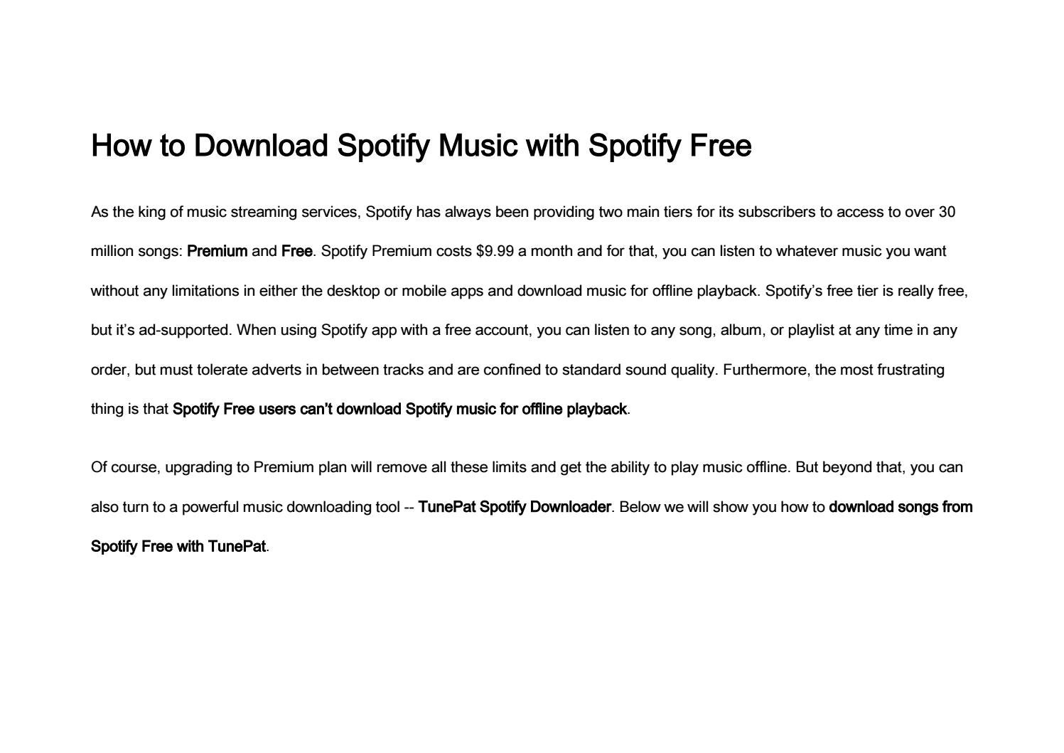 How to Download Spotify Music with Spotify Free by Jack Samuel - issuu