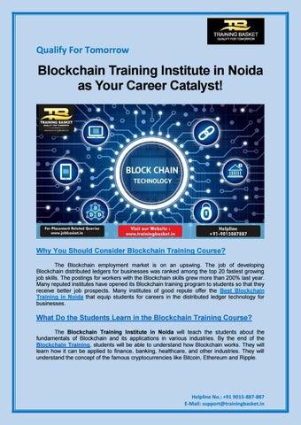 Blockchain Training Institute in Noida as Your Career