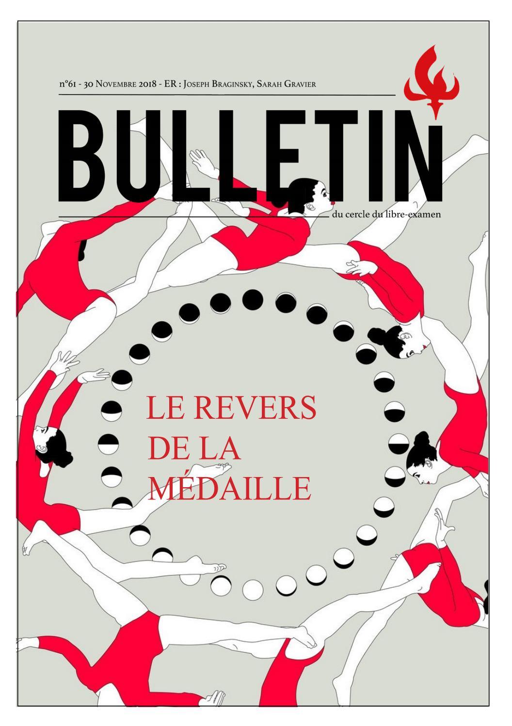 Bulletin   revers de la médaille by Cercle du Libre Examen ULB   issuu