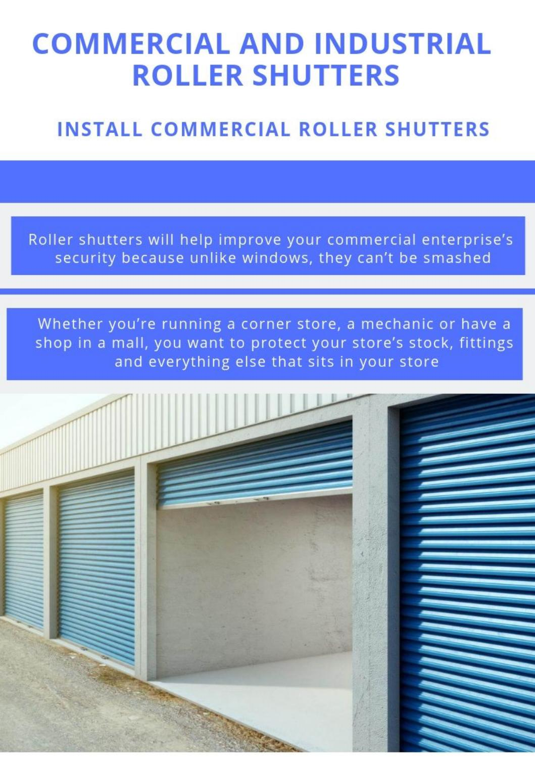 Commercial And Industrial Roller Shutters By Diedrich Carter
