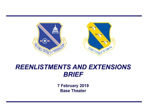Reenlistments and Extensions Brief by Joint Base Andrews